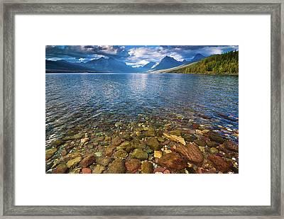 Mcdonald Lake Colors Framed Print