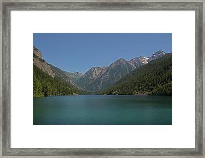 Mcdonald Lake- Ronan Montana Framed Print