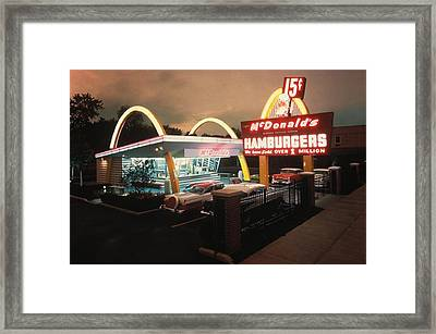 Mcdonalds 1 Store Museum Framed Print by Everett