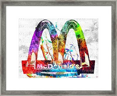 Mcdonald's Grunge Framed Print