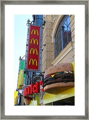 Mcdonalds Hamburger Restaurant . Fishermans Wharf . San Francisco California . 7d14249 Framed Print by Wingsdomain Art and Photography