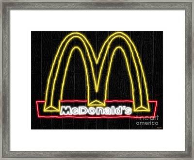 Mcdonald's Neon Framed Print