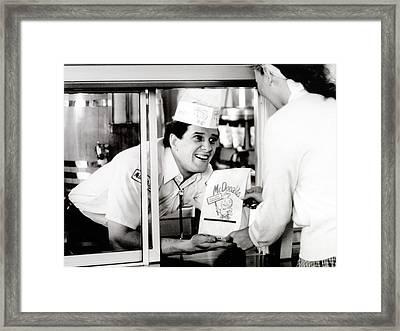 Mcdonalds Restaurant Crew Member Framed Print