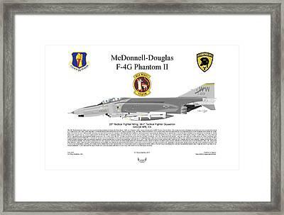 Mcdonnell Douglas F-4g 69-7201 Framed Print