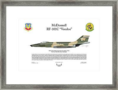 Mcdonnell Rf-101c Voodoo Framed Print