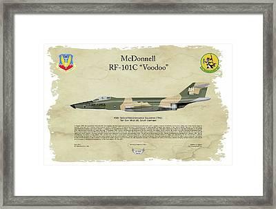 Mcdonnell, Rf-101c, Voodoo, Arthur G. Eggers, Air Wing Graphics Framed Print