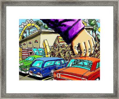 Mcds Takeout Framed Print