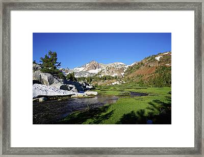 Mcgee Creek Below Red And White Mountain Framed Print by Dale Matson