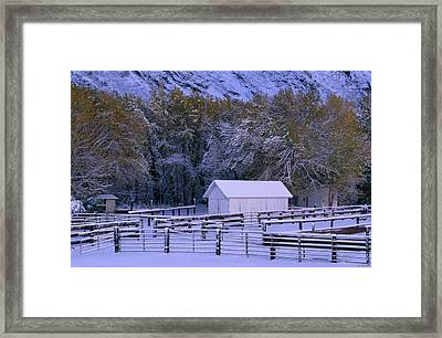 Mcgee Creek Outfitters Framed Print by Soli Deo Gloria Wilderness And Wildlife Photography
