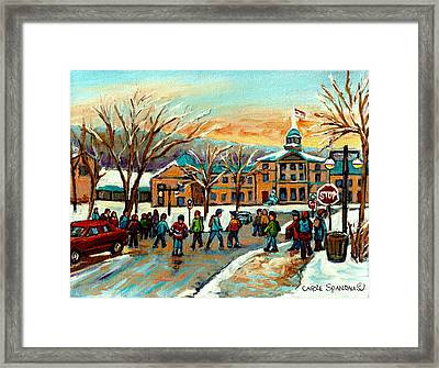 Mcgill Gates Sherbrooke Street Montreal Framed Print
