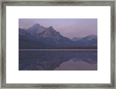 Mcgowen Peak At Sunrise Framed Print by John Higby