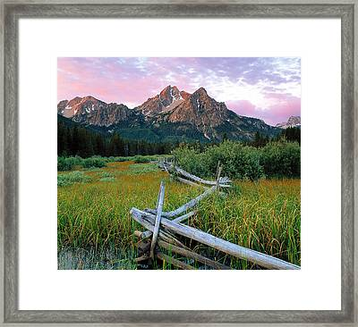 Mcgown Peak 2 Framed Print by Leland D Howard