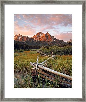 Mcgown Peak Gold Framed Print by Leland D Howard