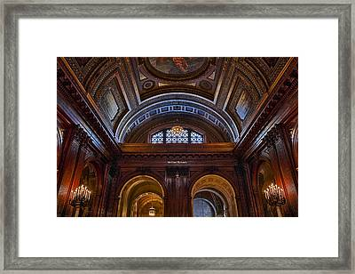 Mcgraw Rotunda Nypl Framed Print by Susan Candelario