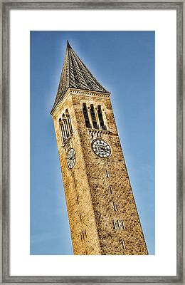 Mcgraw Tower Framed Print by Stephen Stookey