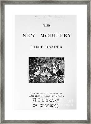 Mcguffeys Reader, 1901 Framed Print by Granger