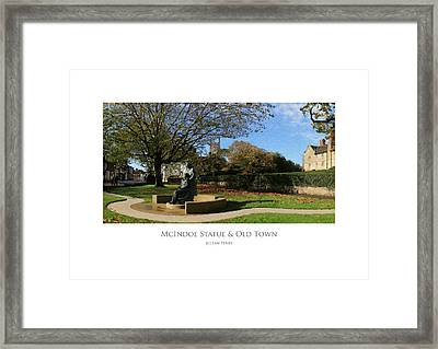 Framed Print featuring the digital art Mcindoe Statue by Julian Perry