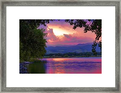 Mcintosh Lake Sunset Framed Print