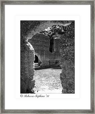 Mcintosh Sugar Mill Tabby Ruins  Framed Print by Rebecca Stephens