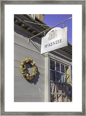Mckenzie Apothecary Christmas 2014 Framed Print