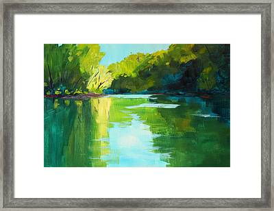 Mckenzie River Framed Print by Nancy Merkle