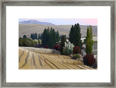 Mckenzie Road In The Palouse Framed Print by Jerry McCollum