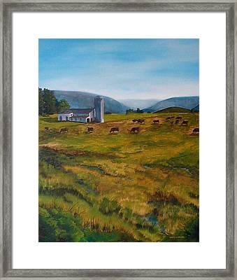Mckenzie's Farm Framed Print by Anita Carden