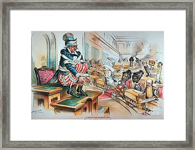 Mckinley Tariff Act, 1894 Framed Print by Granger
