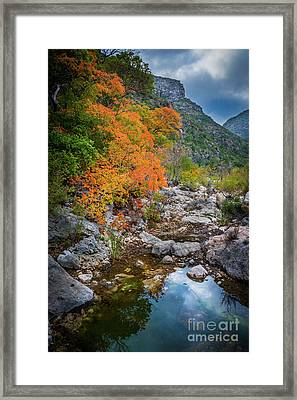 Mckittrick Canyon Framed Print by Inge Johnsson