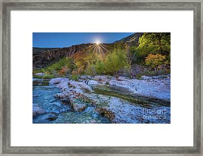 Mckittrick Sunrise Framed Print by Inge Johnsson