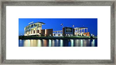 Mclane Stadium Panoramic Framed Print