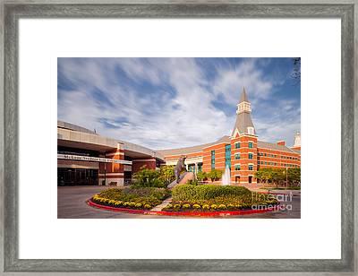 Mclane Student Life Center And Sciences Building - Baylor University - Waco Texas Framed Print by Silvio Ligutti