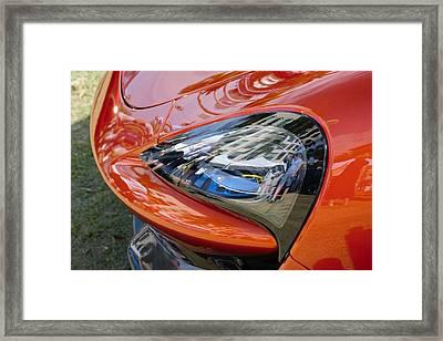 Mclaren Eyeing A Porsche Framed Print