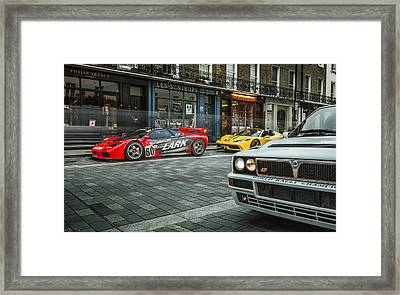 Mclaren F1 Gtr With Speciale And Integrale  Framed Print