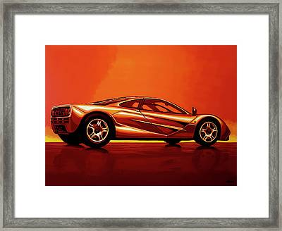 Mclaren F1 1994 Painting Framed Print by Paul Meijering