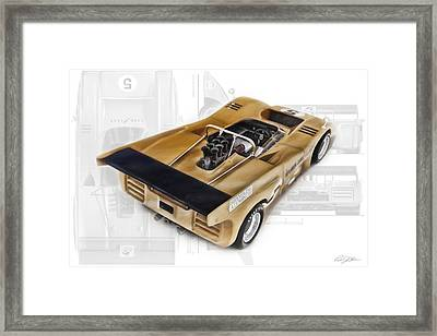 Mclaren M8d 1970 Framed Print by Peter Chilelli