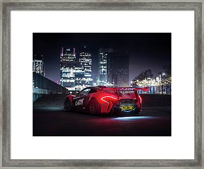 Mclaren P1 Gtr In London Framed Print