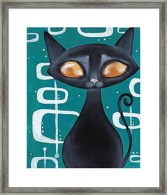 Mcm Cat Framed Print by Abril Andrade Griffith