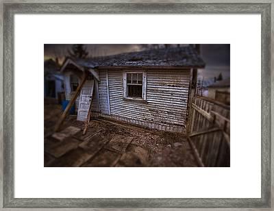 Mcmillan Back Alley Shed   Framed Print