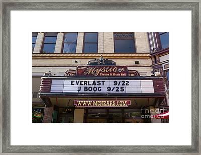Mcnears Mystic Theatre And Music Hall In Petaluma California Usa Dsc3750 Framed Print