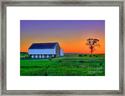 Mcpherson Farm Gettysburg Framed Print by DJ Florek