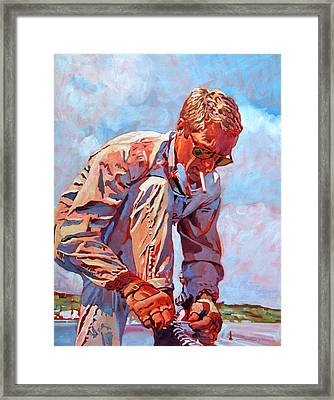 Mcqueen Cool - Steve Mcqueen Framed Print by David Lloyd Glover