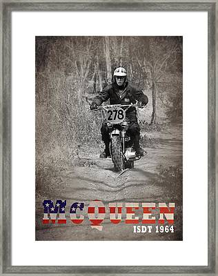 Mcqueen Isdt 1964 Framed Print by Mark Rogan
