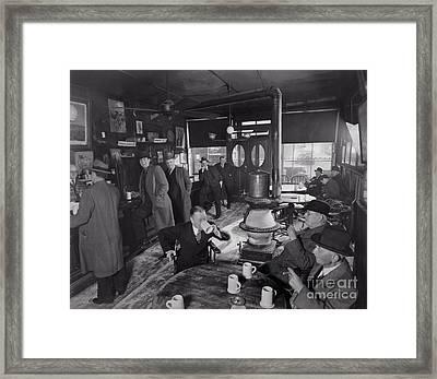 Mcsorleys Framed Print by Lionel F Stevenson