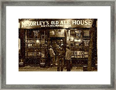 Mcsorley's Old Ale House Framed Print by Randy Aveille