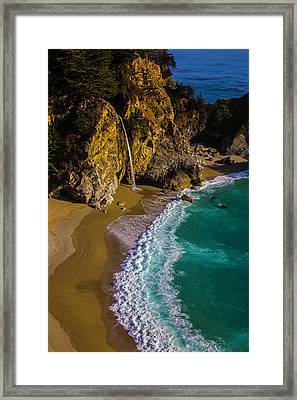 Mcway Cove Beach Framed Print by Garry Gay