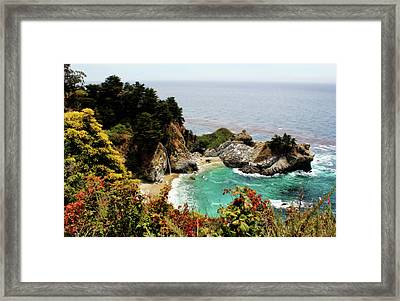 Mcway Falls 2 Framed Print by Judy Vincent