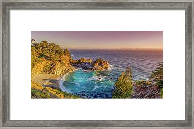 Mcway Falls Big Sur California Framed Print by Scott McGuire