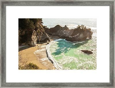 Mcway Falls, California Framed Print