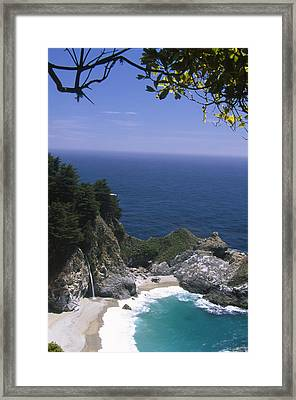Mcway Falls - Julia Pfeiffer Burns State Park Framed Print